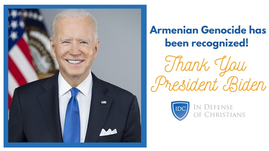Thank you President Biden for recognizing the Armenian Genocide